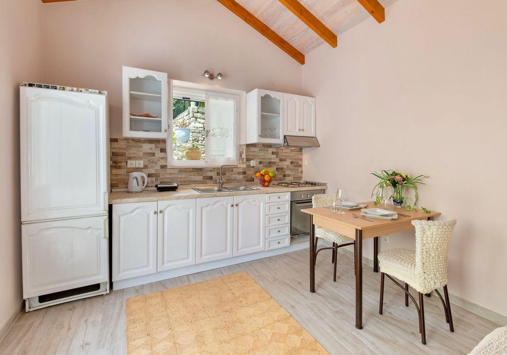 attached studio kitchen